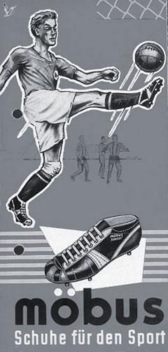 50er Jahre Werbung – Schuhe für den Sport